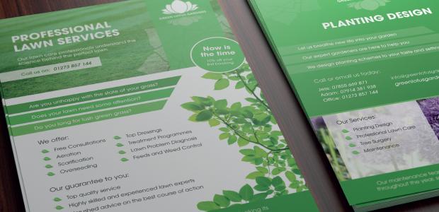 Green Lotus Gardens Flyer Design