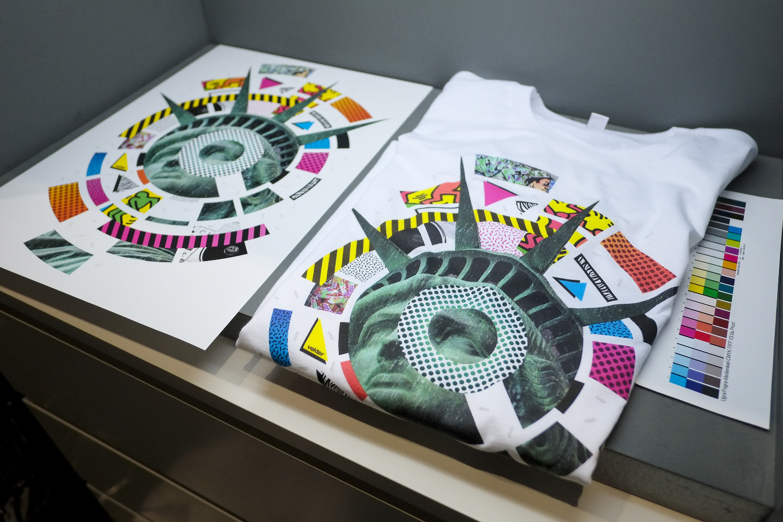 Fespa award winning cmyk t shirt print for Tee shirt printing near me