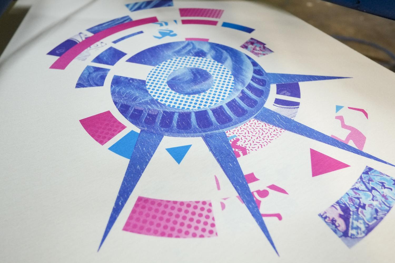 4 Colour Process Screen Print