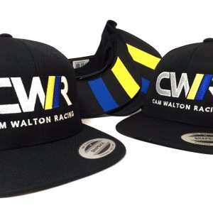 Cap embroidery for Cam Walton Racing