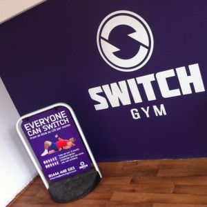 A range of signage for Switch Gym