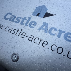 Vehicle signage for Castle Acre
