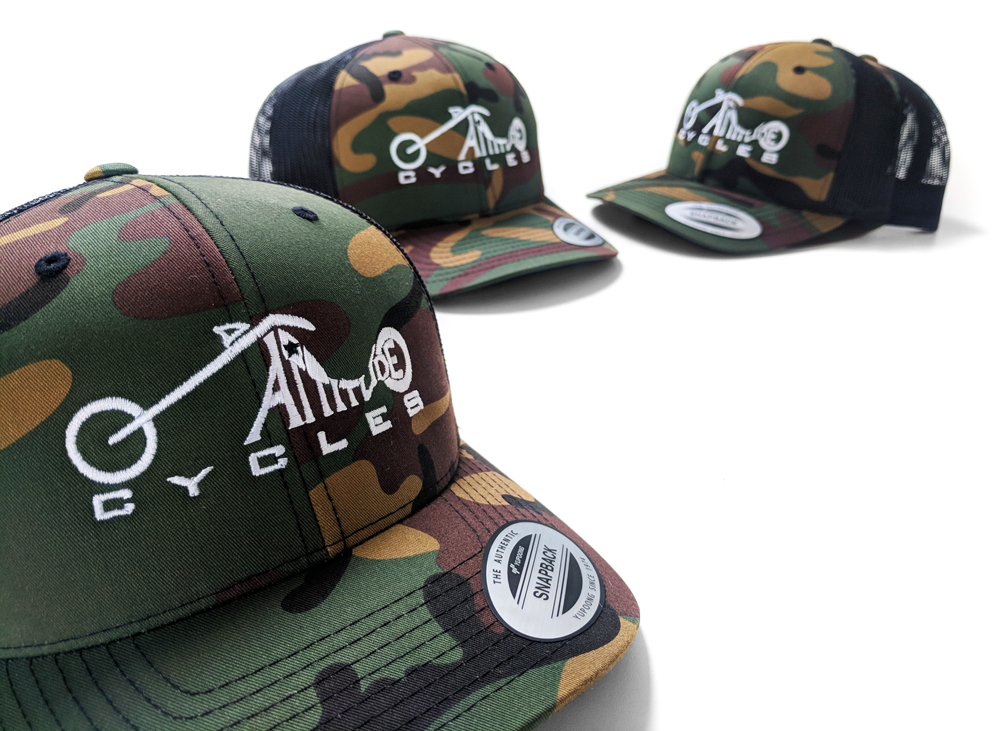 Embroidered Camo Caps
