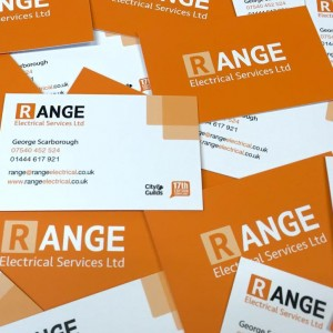 Range Electrical - Business Cards