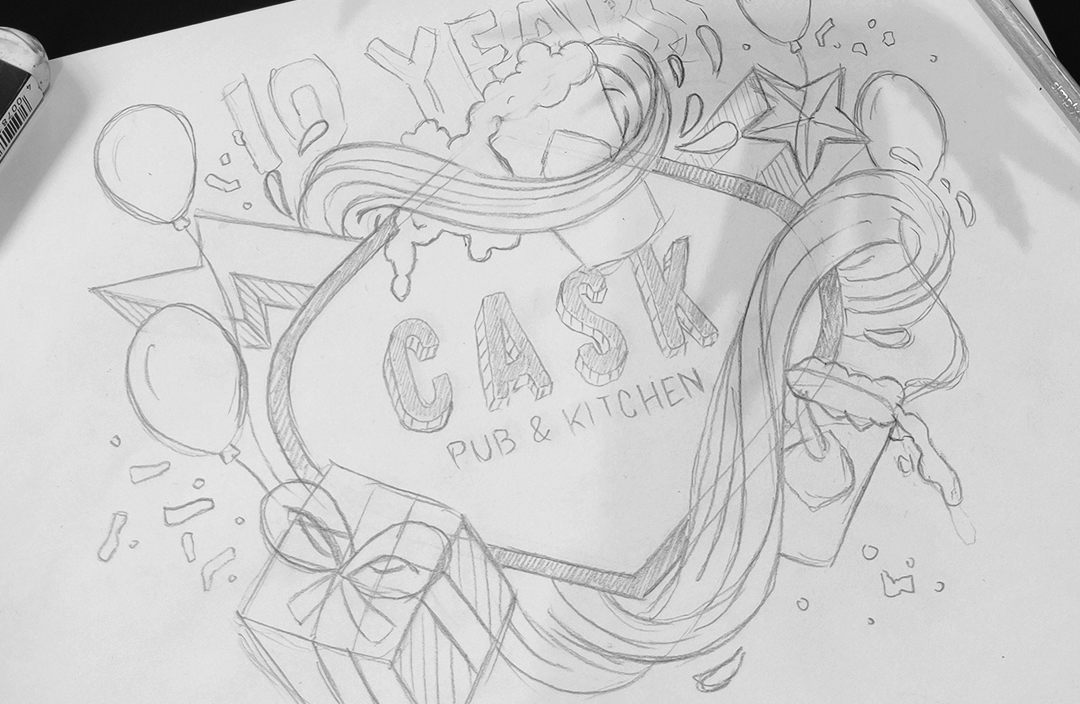 Event Branding Creative Sketch