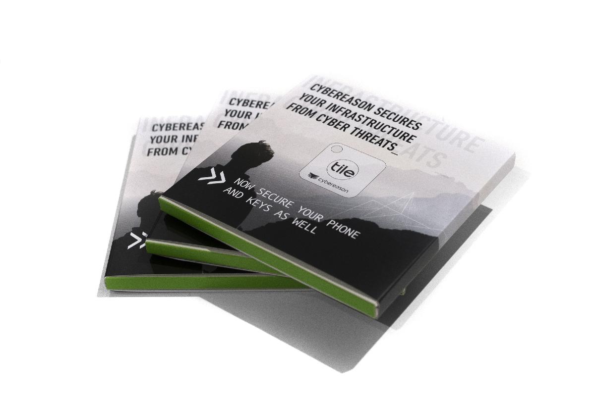 Cybereason Tile Keyring Packaging