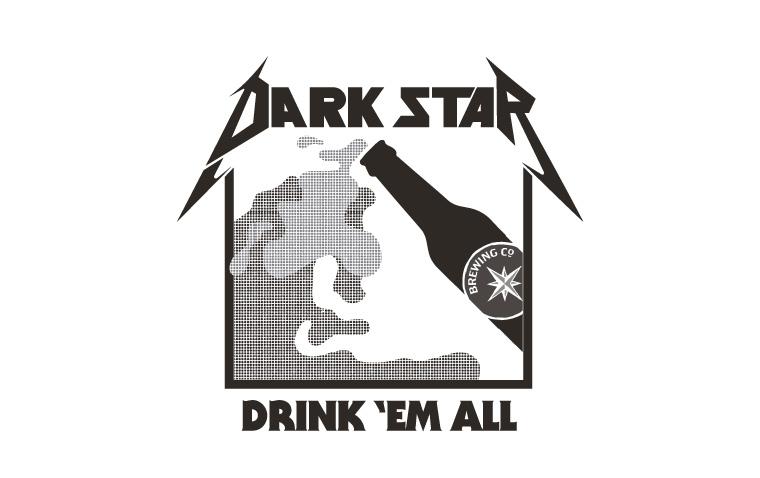 Dark Star Metallica Inspired T-Shirt Design
