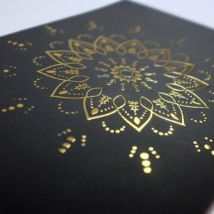 Gold Varnish Printing