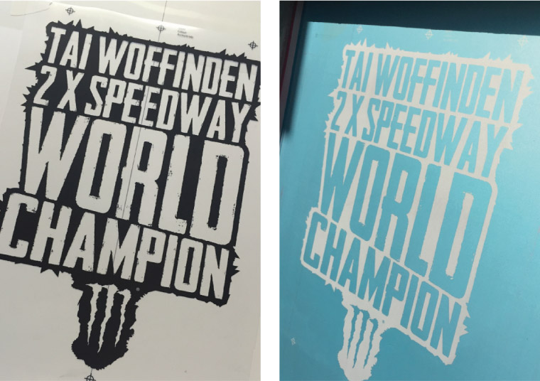 Monster Energy Silkscreen Stencils