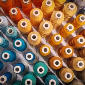 Shades of Embroidery Bobbins