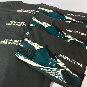 DTG printing for Tempest Brewing Co