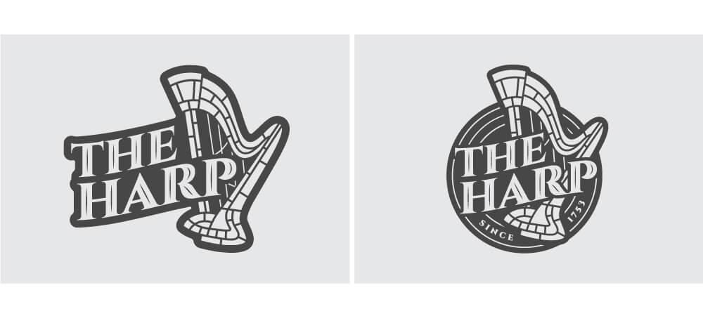 The Harp Logo Concept Design