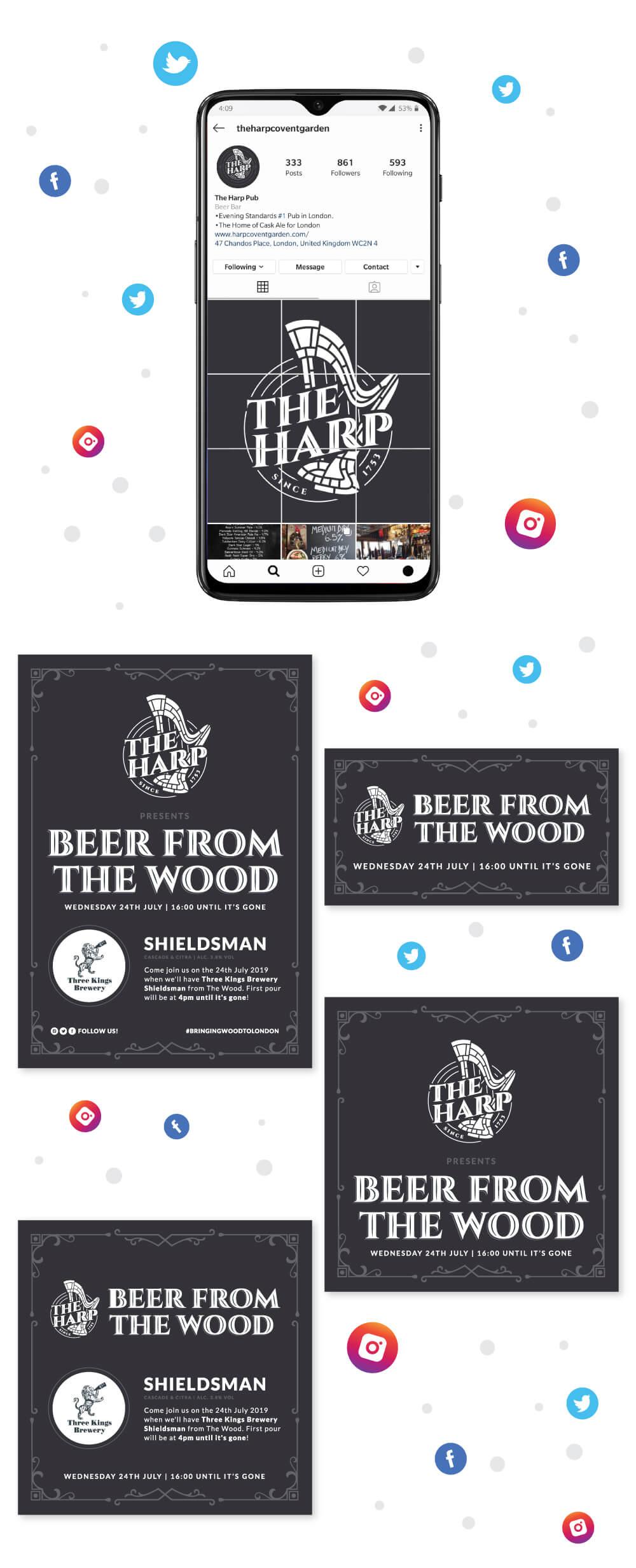 The Harp Social Media Event Creative
